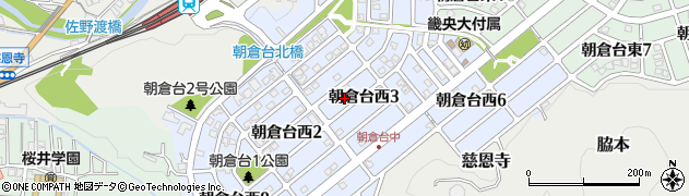 奈良県桜井市朝倉台西周辺の地図