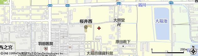 奈良県桜井市大福周辺の地図
