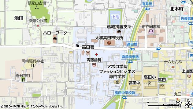 〒635-0000 奈良県大和高田市(以下に掲載がない場合)の地図