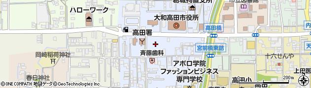 奈良県大和高田市周辺の地図