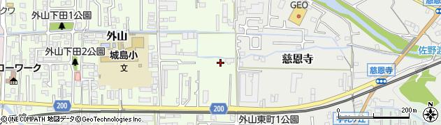 奈良県桜井市外山周辺の地図