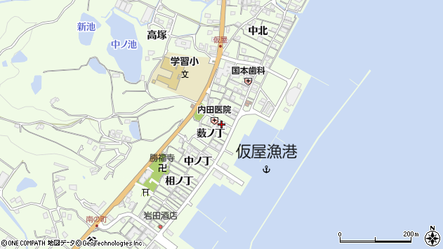 〒656-2331 兵庫県淡路市仮屋の地図