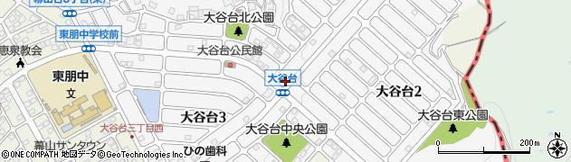 広島県福山市大谷台周辺の地図