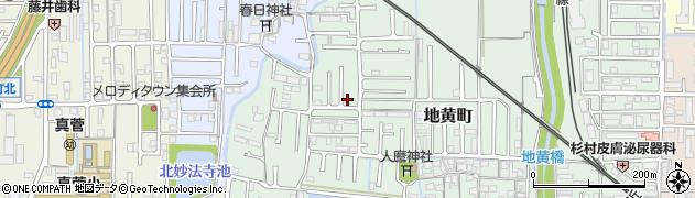 奈良県橿原市地黄町周辺の地図