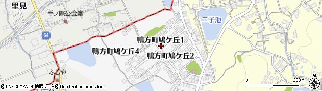 岡山県浅口市鴨方町鳩ケ丘周辺の地図