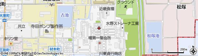 奈良県大和高田市材木町周辺の地図