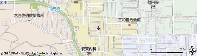 奈良県橿原市山之坊町周辺の地図