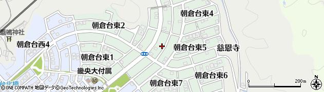 奈良県桜井市朝倉台東周辺の地図