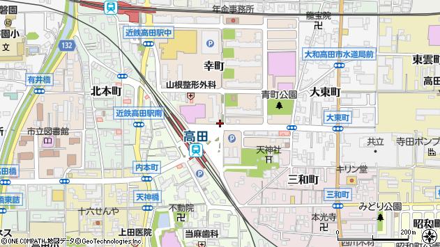 〒635-0015 奈良県大和高田市幸町の地図