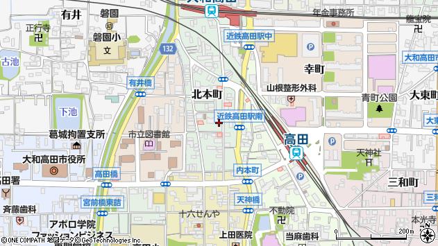〒635-0097 奈良県大和高田市北本町の地図
