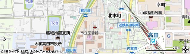 奈良県大和高田市西町周辺の地図
