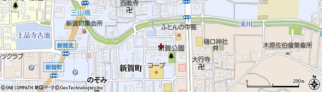 奈良県橿原市新賀町周辺の地図