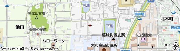 奈良県大和高田市有井周辺の地図