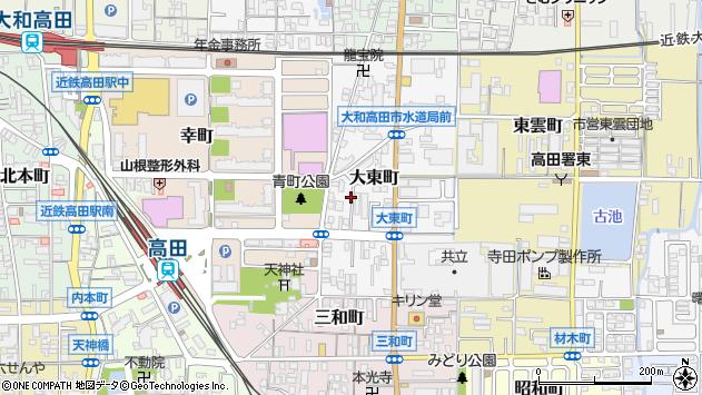 〒635-0016 奈良県大和高田市大東町の地図
