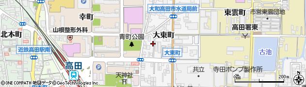 奈良県大和高田市大東町周辺の地図