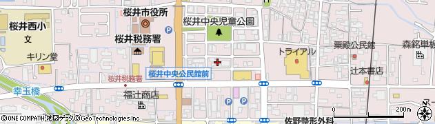 奈良県桜井市粟殿周辺の地図