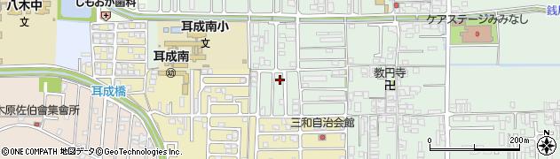 奈良県橿原市常盤町周辺の地図