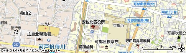 広島県広島市安佐北区周辺の地図