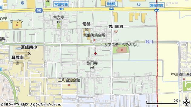 〒634-0003 奈良県橿原市常盤町の地図