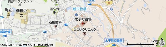 大阪府南河内郡太子町周辺の地図