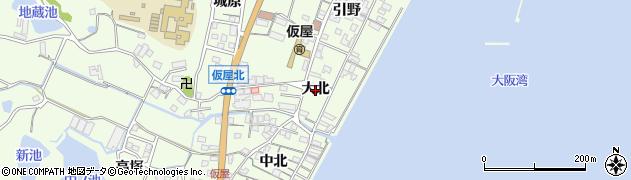 兵庫県淡路市久留麻(大北)周辺の地図