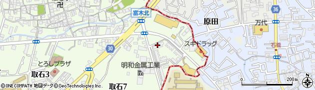 府営取石住宅周辺の地図