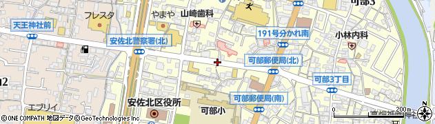 可部小北周辺の地図