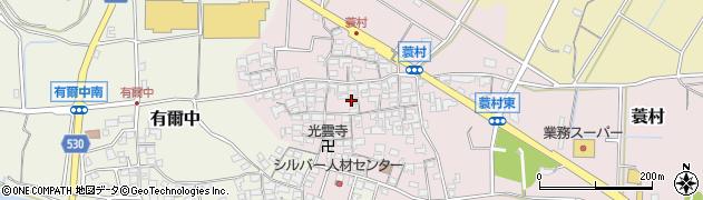 三重県多気郡明和町蓑村周辺の地図