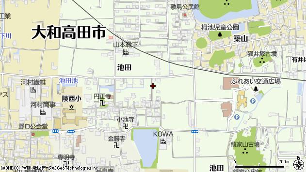 〒635-0077 奈良県大和高田市池田の地図