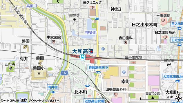 〒635-0024 奈良県大和高田市日之出西本町の地図