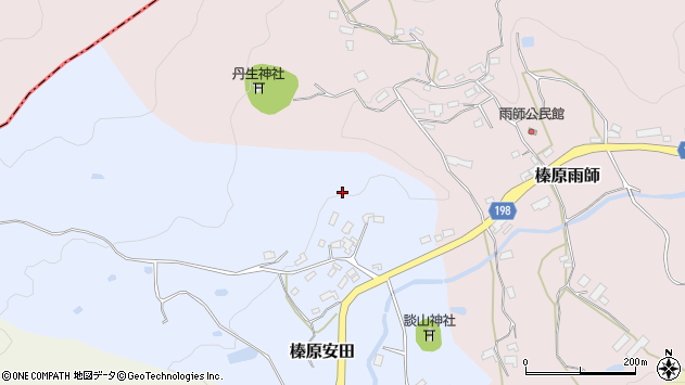 〒633-0244 奈良県宇陀市榛原安田の地図