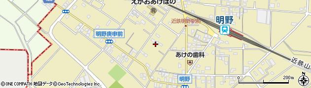 三重県伊勢市小俣町明野周辺の地図