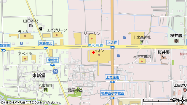 〒633-0061 奈良県桜井市上之庄の地図