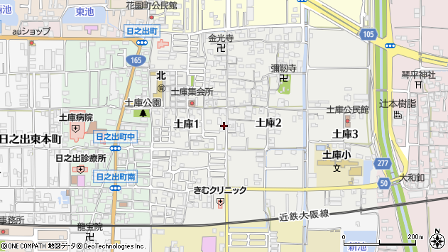 〒635-0002 奈良県大和高田市土庫(丁目)の地図