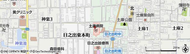 奈良県大和高田市日之出町周辺の地図