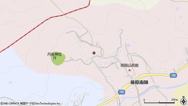 〒633-0243 奈良県宇陀市榛原雨師の地図
