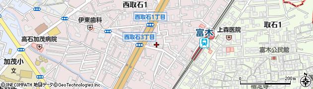 府営富木住宅周辺の地図
