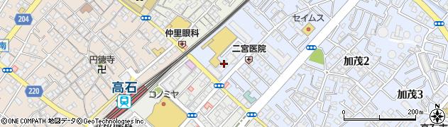 府営高石加茂住宅周辺の地図