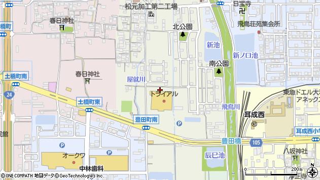 〒634-0842 奈良県橿原市豊田町の地図