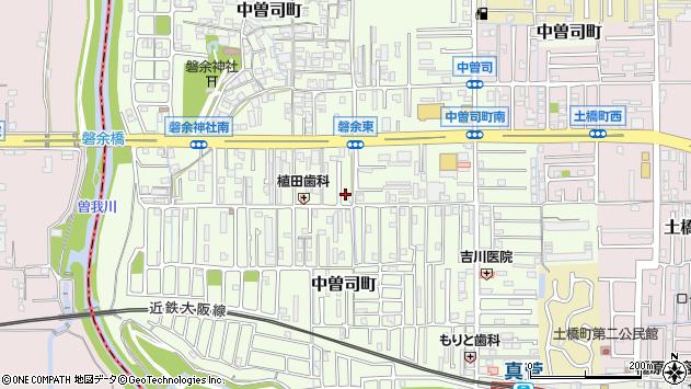 〒634-0845 奈良県橿原市中曽司町の地図