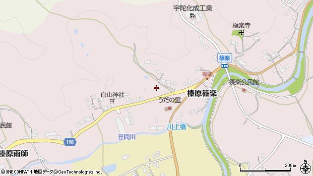 〒633-0242 奈良県宇陀市榛原篠楽の地図