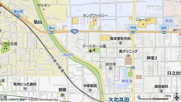 〒635-0025 奈良県大和高田市神楽(丁目)の地図