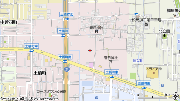 〒634-0844 奈良県橿原市土橋町の地図