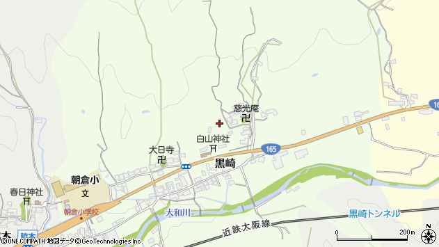 〒633-0011 奈良県桜井市黒崎の地図