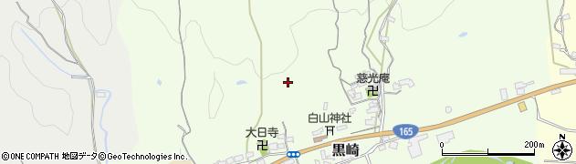 奈良県桜井市黒崎周辺の地図