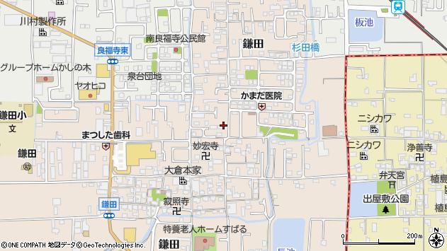 〒639-0227 奈良県香芝市鎌田の地図