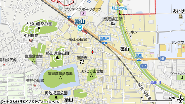 〒635-0071 奈良県大和高田市築山の地図