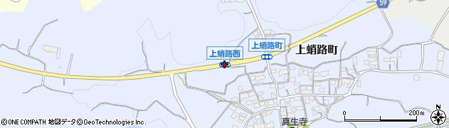 上蛸路西周辺の地図