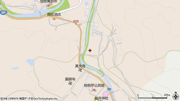 〒633-0218 奈良県宇陀市榛原檜牧の地図
