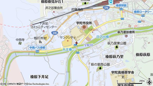 〒633-0241 奈良県宇陀市榛原下井足の地図